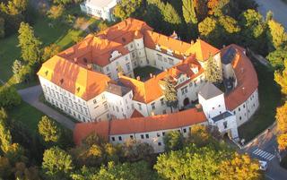 Letecký pohled na zámek