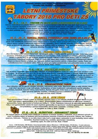 Příměstské tábory - plakát