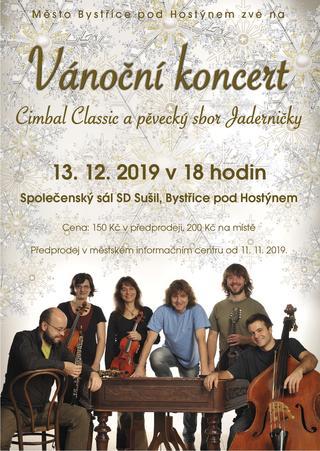 Vánoční koncert Cimbal Classic a pěvecký sbor Jaderničky
