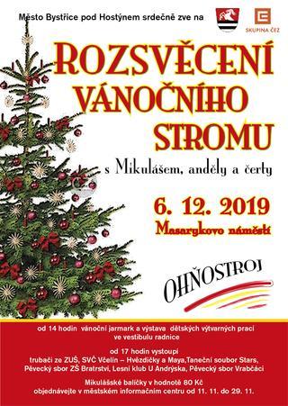 Rozsvěcení vánočního stromu Bystřice pod Hostýnem