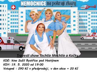 Travesti show Techtle Mechtle a Kočky v novém pořadu ,,Nemocnice na pokraji zkázy,,